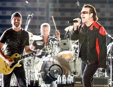 U2 in concert in Copenhagen