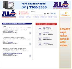 Site Alô Negócios – www.alonegocios.com.br