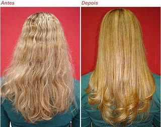 Botox capilar ybera antes e depois.