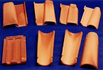 Telhas de cerâmica