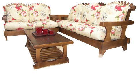 Sofás de madeira