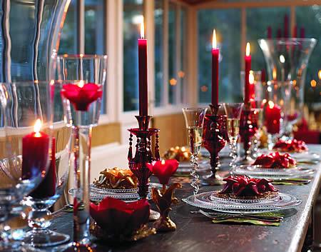Fotos de Mesas de Jantar Decoradas com Velas