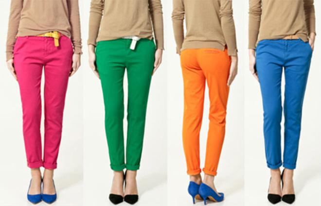 Modelos Calças Coloridas Para o Verão 2012