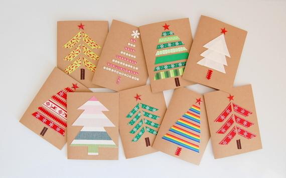 cartoes de natal com arvores diferentes