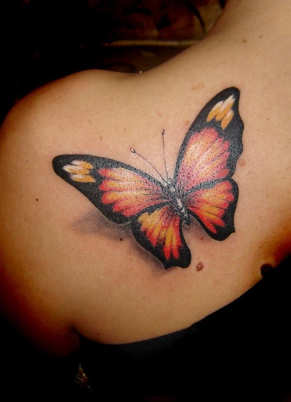 Tatuagem de Borboleta – Ombro – Costas