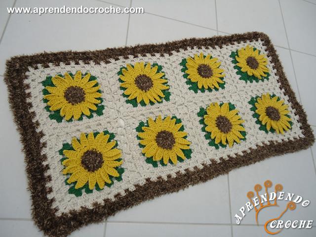 Como fazer tapetes de crochê2
