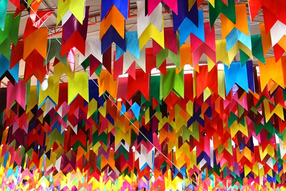 Bandeirinhas de Festa Junina passo a passo
